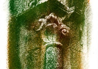 Título: Art Romànic 2 (Arte Románico 2) Proceso: Oliotipia  Copia original: 20 x 30, sobre papel SAUNDERS-ARCHES Obra expuesta: 60 x 90 (Digitalizada del original, impresa sobre lienzo) Fotografía  y Proceso: Jaume Estapé i Aliaga