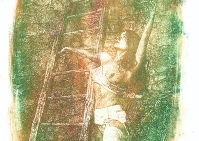 Título: Eròtic 5 (Erótico 5) Proceso: Oliotipia Copia original: 21x 30,  sobre papel VERJURADO Obra expuesta: 60 x 79 (Digitalizada del original, impresa sobre lienzo) Fotografía  y Proceso: Jaume Estapé i Aliaga