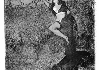 Título: Eròtic 9 (Erótico 9) Proceso: Carbón Directo Pigmentado Copia original: 26x 33, sobre papel GUARRO-ACUARELA Obra expuesta: 60 x 78 (Digitalizada del original, impresa sobre lienzo) Fotografía  y Proceso: Jaume Estapé i Aliaga